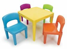 Tot Tutors Kids' Table and 4-Chair Set, Plastic, New, Free Shipping