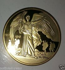 Gold World War I Coin Angel Heaven Royal Iconic Unusual Collectors Collection UK
