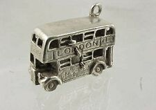 Vintage Nuvo Sterling Silver LONDON DOUBLE DECKER BUS Charm