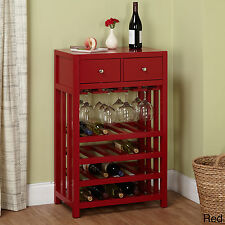Red Wine Cabinet Rack Tower Storage Bottle Bar Holder Wood Furniture Tower