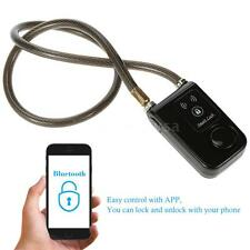 Smart Lock with Bluetooth Chain for Motorcycle Bike Security Alarm Keyless D4M9