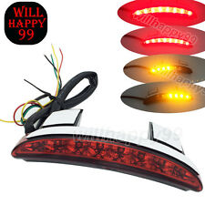 Red Chopped Fender Edge LED Turn Signal Taillight For Harley XL883N XL1200X V C