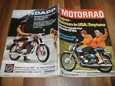 MOTORRAD vom 3.4.1971 -- TEST: HONDA CB 100 / 200 Meilen DAYTONA / Trial Clamart