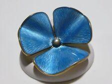 """""""H"""" BLUE ENAMEL STERLING SILVER 925s NORWAY NORWEGIAN BROOCH PIN MODERN"""