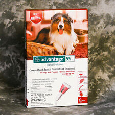 Advantage Red (4PACK) for Large Dogs 21-55 lbs ~FREE SHIPPING~