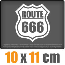 Route 666 10 x 11 cm JDM Decal Sticker Aufkleber Racing Scheibe Auto Car Weiß