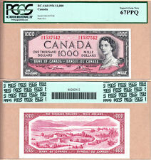 1954 $1000 Bank of Canada QE2. Lawson & Bouey BC-44d. PCGS Superb GEM UNC67 PPQ