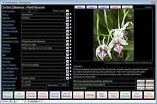 Orchid Management Database Software NEW Pro VERSION suit Windows 7/8/10 XP Vista