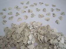 X 500 VINTAGE STYLE HAND PUNCHED HEARTS - TABLE CONFETTI /SCATTERS / DECORATIONS
