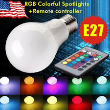 New 16 Colors Changing 9W E27 LED RGB Magic Light Bulb + Wireless Remote Control