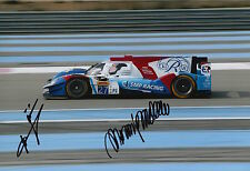 Minassian, Mediani Hand Signed SMP Racing Nissan 12x8 Photo 2016 Le Mans WEC.
