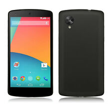 0.3mm Ultra Thin TPU Frost Back Case Cover Skin For New LG Google Nexus 5 Black