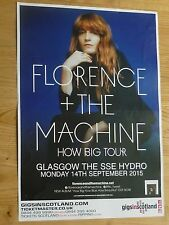 Florence + The Machine Glasgow 2015 tour concert gig poster