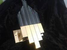 Mid century Willy Rizzo brass and glass sconce wall lamp