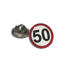 Road Sign Speed Limit Birthday Lapel Pin Badge