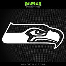 Seattle Seahawks NFL -  White Vinyl Sticker Decal 5""