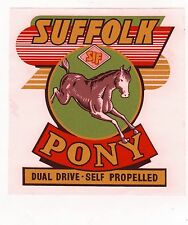 Suffolk Pony Vintage Mower Repro Decal