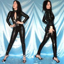 schwarzer CATSUIT im LEDER-Look* M 40  wetlook Lack Ganzanzug* Overall stretchig