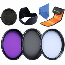 58MM UV CPL Lens Filter Kit + Hood for Canon Rebel T5i T4i T3i T3 T2i XSi 18-55