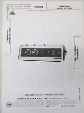 Vintage Sams Photofact Folder Radio Parts Manual Panasonic RC-7589 Flip Clock