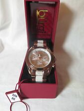 Women's Burgi BUR094RG Swiss Quartz Multifunction Rose-tone Bracelet Watch