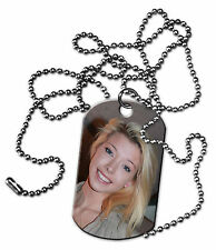 PERSONALIZED CUSTOM PHOTO DOG TAG JEWELRY TWO SIDED