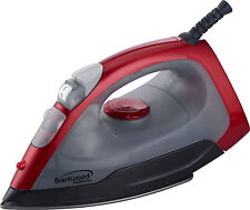New Brentwood Appliances Steam Dry Spray Clothes Electric Iron Red
