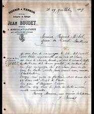 """MARCILLAT-LA-FARGE prés d'AUZANCES (23) SCIERIE """"Jean BOUDET Forgeron"""" en 1907"""