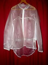 unisex c through thick pvc raincoat with hood mesh sides cycling screech