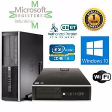 HP ELITE 8100  CORE i3 3.1GHZ WINDOWS 10 HP 8GB RAM 500GB DESKTOP COMPUTER Wifi