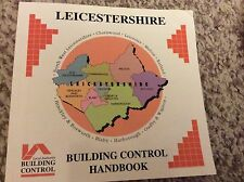 Leicestershire Building Control Handbook 1980's Contains Local Adverts & Photos