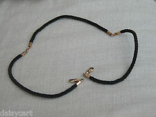 ANTIQUE VICTORIAN   9ct ROSE GOLD  22 inch HUMAN HAIR WATCH CHAIN