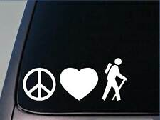 "Peace love Hike sticker *H146* 8"" vinyl hiker hiking camper"