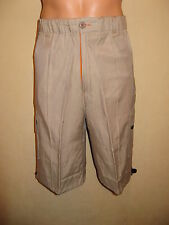 NEW WITH TAGS BOYS MENS PALE BEIGE LIGHTWEIGHT COMBAT CARGO SHORTS SMALL 28/30
