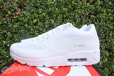 NIKE AIR MAX 90 ULTRA 2.0 ESSENTIAL SZ 8 TRIPLE WHITE 875695 101