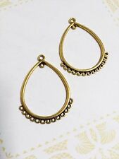 Earring Findings-Chandelier Earring Components-Antiqued Gold Chandelier 10pcs