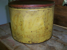 Extremely Rare Vtg 1920s Large J. S. Ivens, Son Inc Cookies, Cakes, Crackers Tin