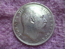 EDWARD VII KING EMPEREROR ~ SILVER COIN ~ ONE RUPEE ~ 1906 ~ WT:-11.66 GRAM
