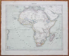 Berghaus: Large Map Continent Africa - 1858