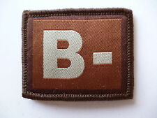 VELCRO BACKED BLOOD GROUP PATCH 5.