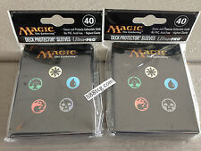 80 Ct. Magic the Gathering MTG Mana Symbol Back Ultra Pro Deck Protector Sleeves
