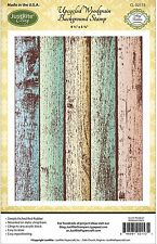 WOODGRAIN BACKGROUND Cling Unmounted Rubber Stamp by JustRight CL-02153 NEW