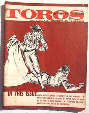 Vintage September 1962 Toros (Matador) Bullfighting Review In English Magazine