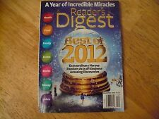 READERS DIGEST DEC 2012-BEST OF 2012 ISSUE-HOLIDAY COVER-NICE SHAPE!