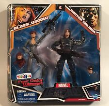 "2010 MARVEL LEGENDS 2 PACK GRAY VARIANT BLACK WIDOW & WINTER SOLDIER 6"" FIGURES"