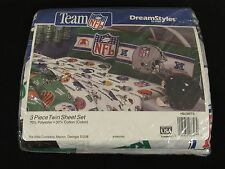 New Vintage NFL Football Helmets Twin Sheets Set Made in USA