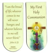 1st First Holy Communion MAGNETIC Bookmark JOHN 635 I am the bread of life....