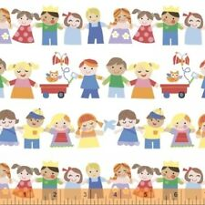 MOTHER GOOSE CHILDREN HOLDING HANDS FABRIC