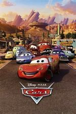 "DISNEY'S CARS POSTER ""LICENSED"" BRAND NEW ""LIGHTNING McQUEEN, MATER, SALLY"""