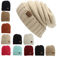 New Womens Knit Slouchy Beanie CC Oversized Thick Cap Hat Unisex Slouch Color 1x